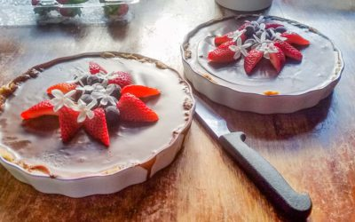 Raw organic strawberry pud