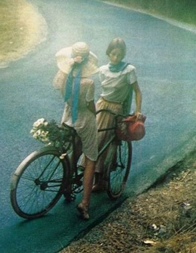 David Hamilton's girls with a bike